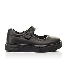 Детские туфли Woopy Fashion черные для девочек натуральная кожа размер 29-37 (8310) Фото 4