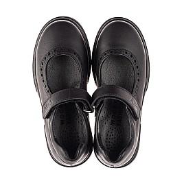 Детские туфли Woopy Fashion черные для девочек натуральная кожа размер 29-37 (8310) Фото 5