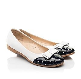 Детские туфли Woopy Fashion белые для девочек натуральная кожа размер 34-39 (8340) Фото 1