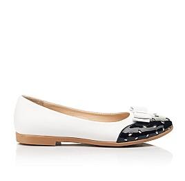 Детские туфли Woopy Fashion белые для девочек натуральная кожа размер 34-39 (8340) Фото 4