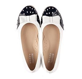 Детские туфли Woopy Fashion белые для девочек натуральная кожа размер 34-39 (8340) Фото 5