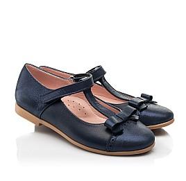 Детские туфли Woopy Fashion синие для девочек натуральная кожа и нубук размер 29-35 (8346) Фото 1