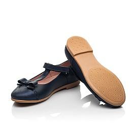 Детские туфли Woopy Fashion синие для девочек натуральная кожа и нубук размер 29-35 (8346) Фото 2