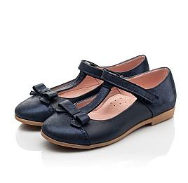 Детские туфли Woopy Fashion синие для девочек натуральная кожа и нубук размер 29-35 (8346) Фото 3