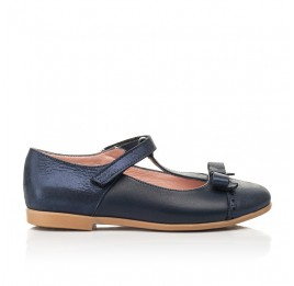 Детские туфли Woopy Fashion синие для девочек натуральная кожа и нубук размер 29-35 (8346) Фото 4