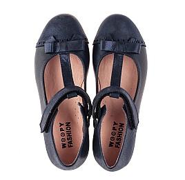 Детские туфли Woopy Fashion синие для девочек натуральная кожа и нубук размер 29-35 (8346) Фото 5