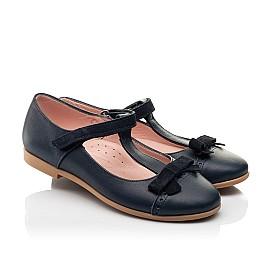 Детские туфли Woopy Fashion синие для девочек натуральная кожа размер 29-37 (8348) Фото 1