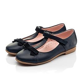 Детские туфли Woopy Fashion синие для девочек натуральная кожа размер 29-37 (8348) Фото 3