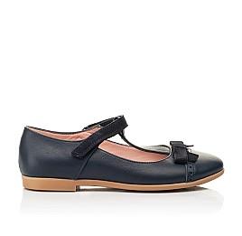 Детские туфли Woopy Fashion синие для девочек натуральная кожа размер 29-37 (8348) Фото 4