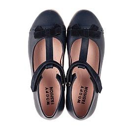 Детские туфли Woopy Fashion синие для девочек натуральная кожа размер 29-37 (8348) Фото 5