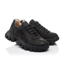 Детские кроссовки Woopy Fashion черные для девочек натуральный нубук размер 31-39 (8351) Фото 1