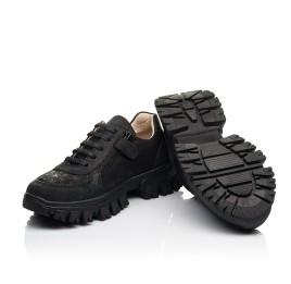 Детские кроссовки Woopy Fashion черные для девочек натуральный нубук размер 31-39 (8351) Фото 2