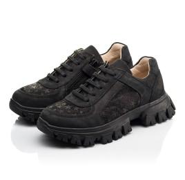 Детские кроссовки Woopy Fashion черные для девочек натуральный нубук размер 31-39 (8351) Фото 3