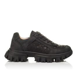Детские кроссовки Woopy Fashion черные для девочек натуральный нубук размер 31-39 (8351) Фото 4