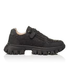 Детские кроссовки Woopy Fashion черные для девочек натуральный нубук размер 31-39 (8351) Фото 5