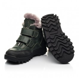 Детские зимние ботинки Woopy Fashion зеленые для мальчиков натуральная кожа размер 21-34 (8375) Фото 2