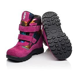 Детские зимние ботинки на шерсти Woopy Fashion малиновые для девочек натуральная замша и искуственный материал размер 21-33 (8381) Фото 2