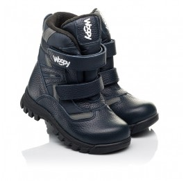 Детские зимние ботинки Woopy Fashion синие для мальчиков натуральная кожа, искусственный материал  размер 21-33 (8384) Фото 1