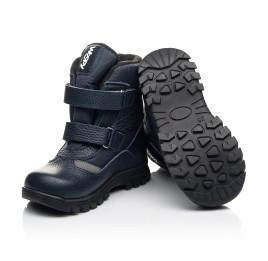 Детские зимние ботинки Woopy Fashion синие для мальчиков натуральная кожа, искусственный материал  размер 21-33 (8384) Фото 2