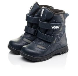 Детские зимние ботинки Woopy Fashion синие для мальчиков натуральная кожа, искусственный материал  размер 21-33 (8384) Фото 3