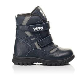 Детские зимние ботинки Woopy Fashion синие для мальчиков натуральная кожа, искусственный материал  размер 21-33 (8384) Фото 4