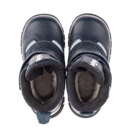 Детские зимние ботинки Woopy Fashion синие для мальчиков натуральная кожа, искусственный материал  размер 21-33 (8384) Фото 5